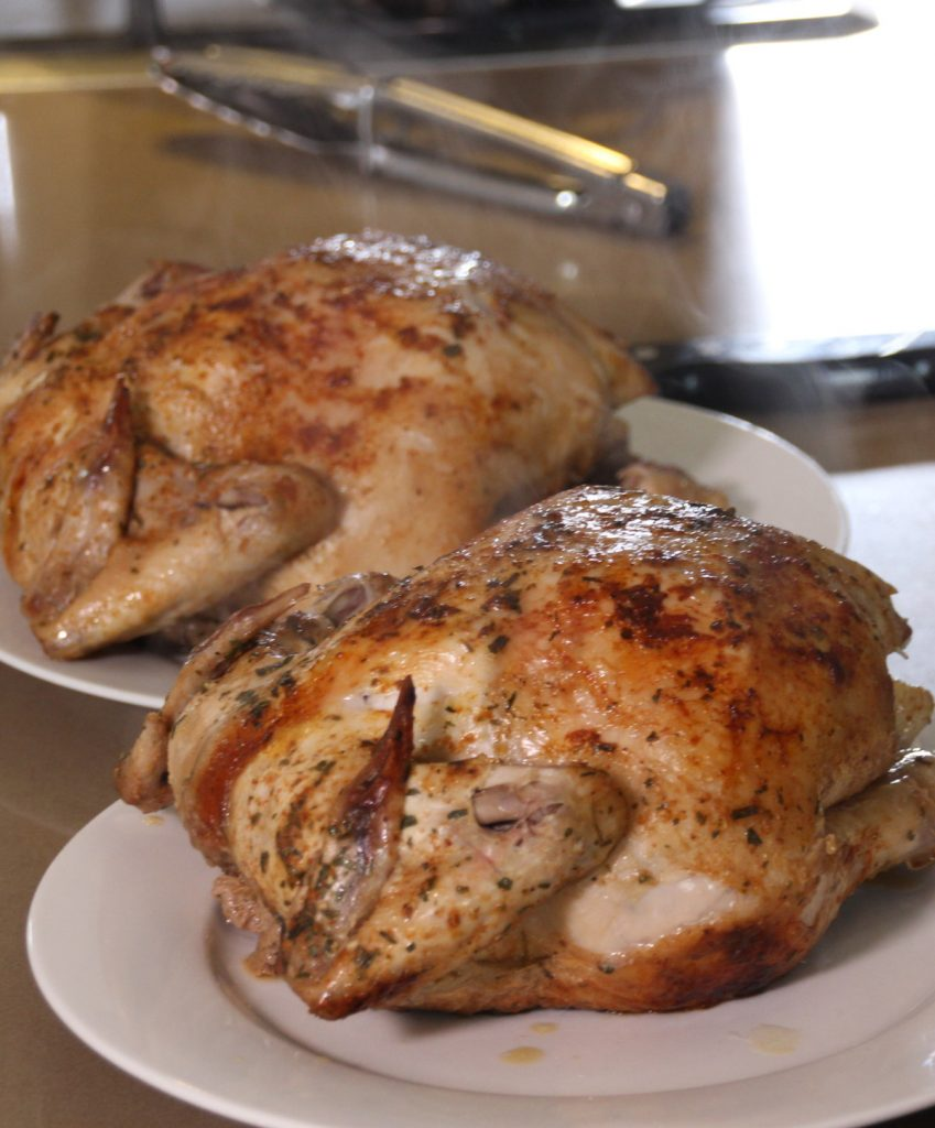 Juicy Roast Organic Chickens