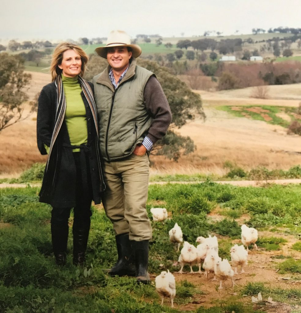 Angus, Sonya and some Organic Chickens
